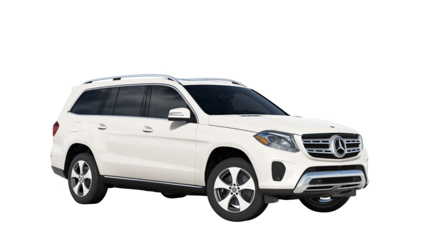 2019 Mercedes-Benz GLS in designo Diamond White metallic