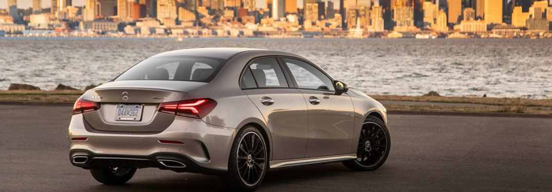 2019 Mercedes-Benz A-Class overlooking city skyline
