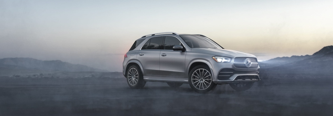 Gray 2020 Mercedes-Benz SUV in foggy mountains