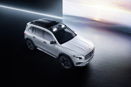 Overhead view of the Mercedes-Benz GLB