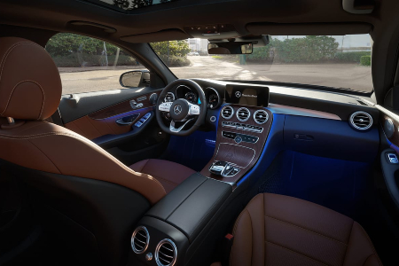 Interior look at the 2019 Mercedes-Benz C-Class