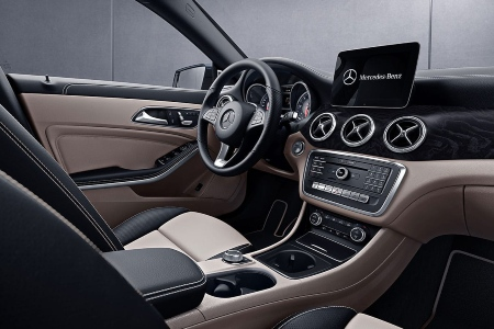 Front seat interior of the 2019 Mercedes-Benz CLA