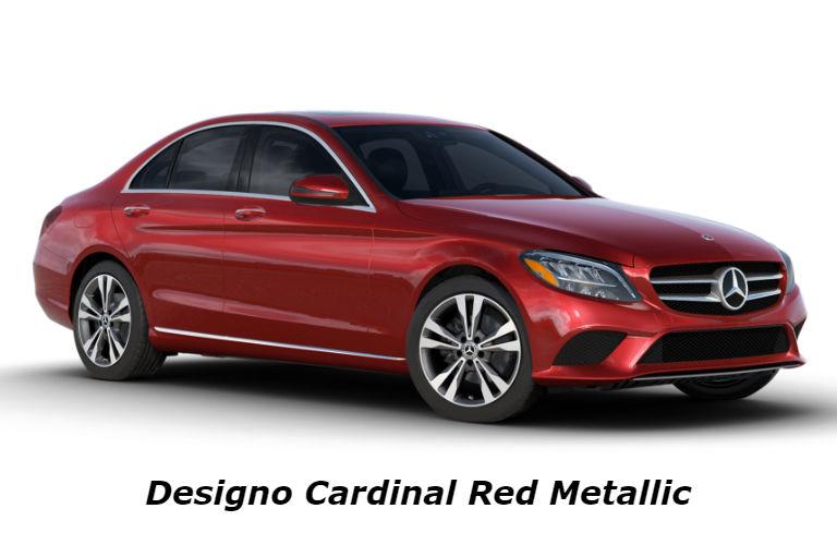 2020 Mercedes-Benz C-Class in designo Cardinal Red Metallic