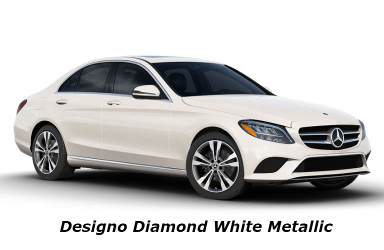 2020 Mercedes-Benz C-Class in designo Diamond White Metallic