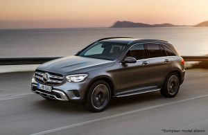 2020 Mercedes-Benz GLC driving on a road