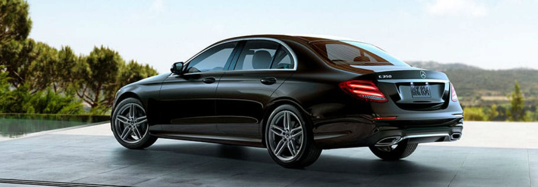 2020 Mercedes-Benz E-Class Sedan side and rear profile