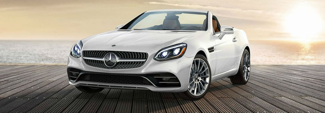 2020 Mercedes-Benz SLC with convertible top down