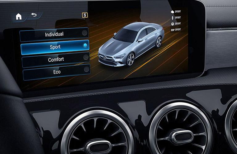 2020 Mercedes-Benz CLA driving mode selection screen