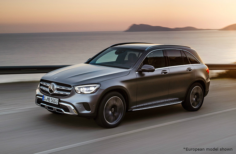 Mercedes-Benz GLC driving on a road