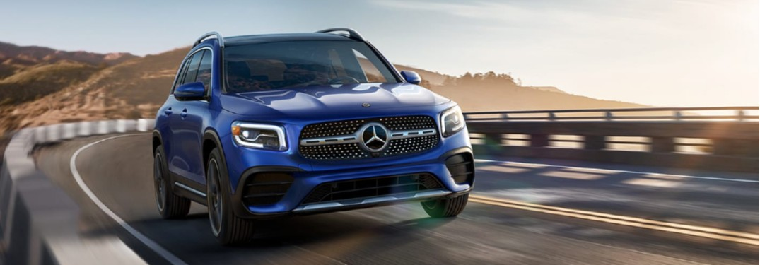 2020 Mercedes-Benz GLB driving on a road