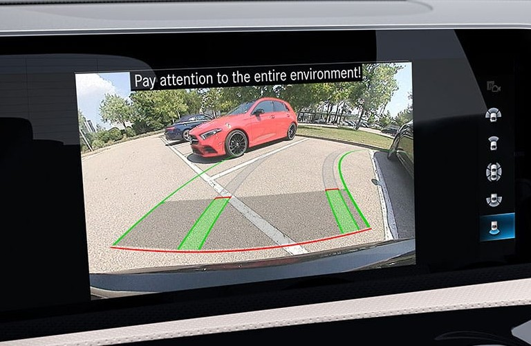 2020 Mercedes-Benz A-Class rearview camera screen