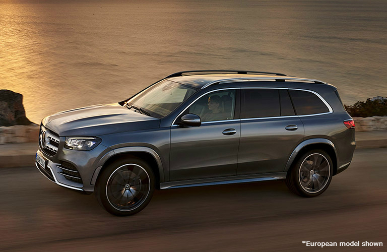 2020 Mercedes-Benz GLS driving on a road