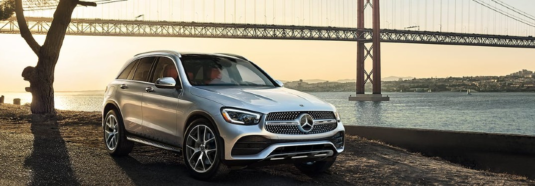 2021 Mercedes-Benz GLC front and side profile