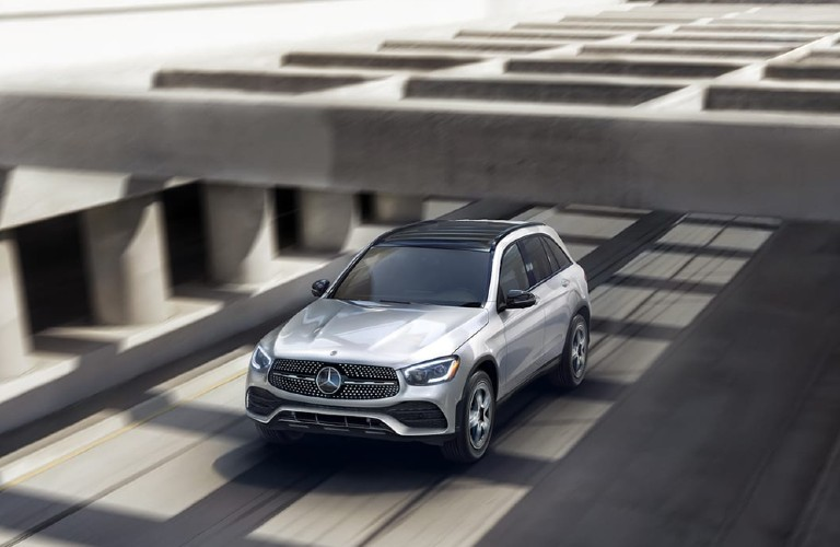 2021 Mercedes-Benz GLC driving on a road