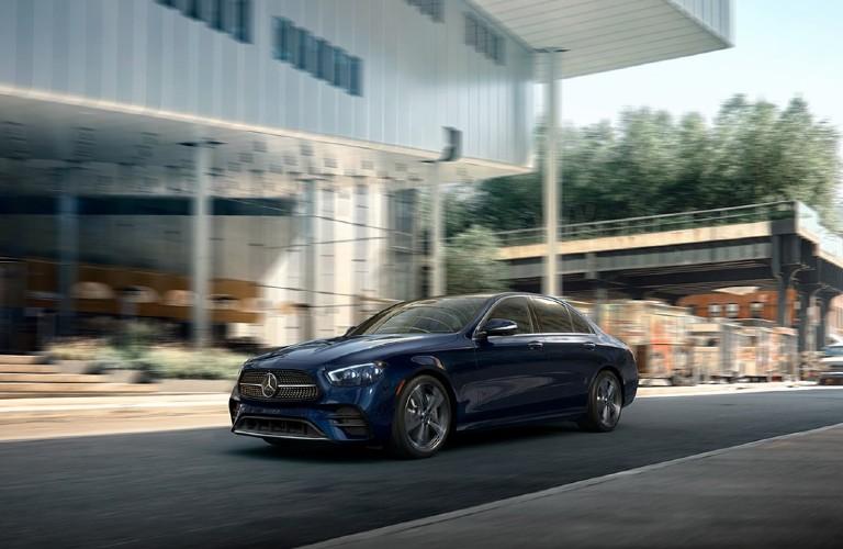 2021 Mercedes-Benz E-Class driving on a road