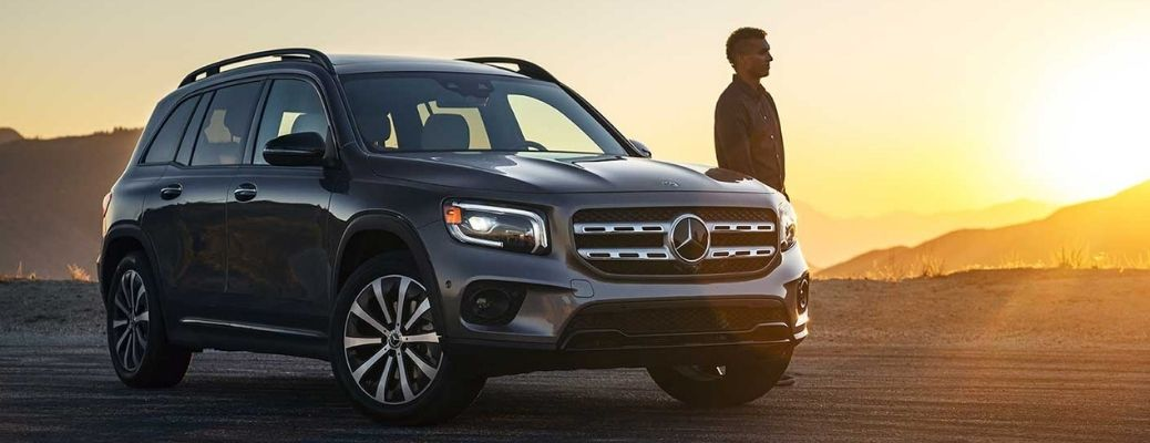 2021 Mercedes-Benz GLB with its owner at sunset