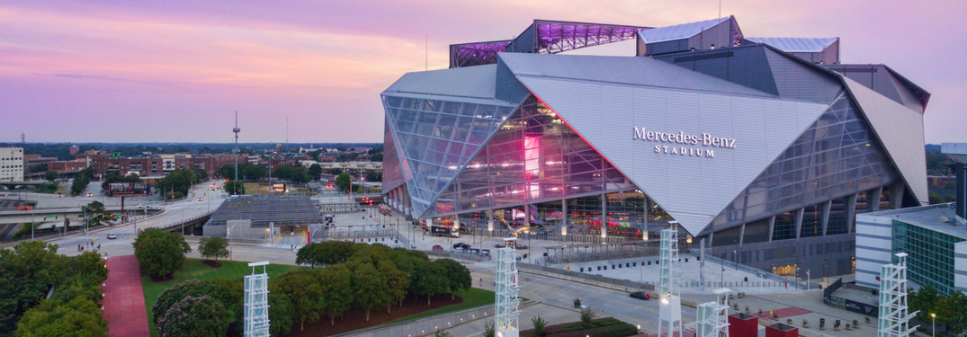 Mercedes benz stadium archives jack ingram motors inc for Hotels near mercedes benz stadium