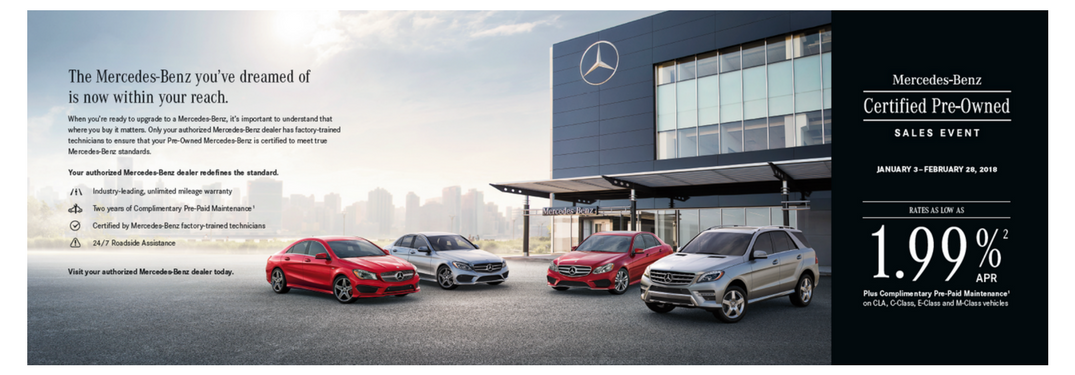Is a certified used luxury vehicle right for you jack for Mercedes benz certified pre owned sales event