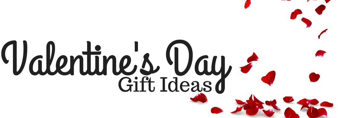 Valentine's Day Gift Ideas and rose petals