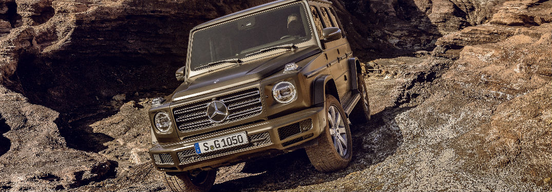 2019 Mercedes-Benz G-Class front view on rocks