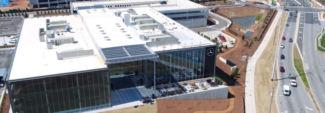 Drone shot of the Mercedes-Benz USA Headquarters