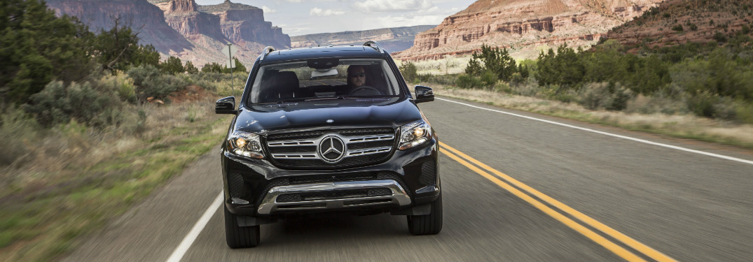 front view of black 2019 mercedes-benz gls 450