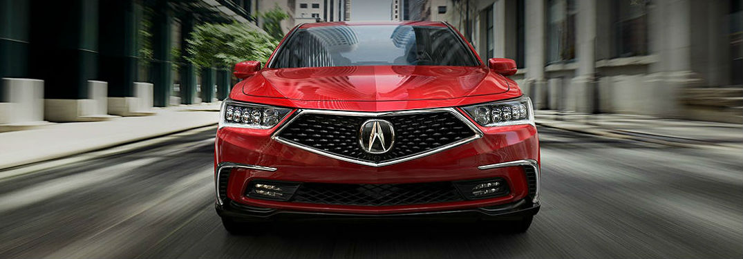 2018 Acura RLX model in red