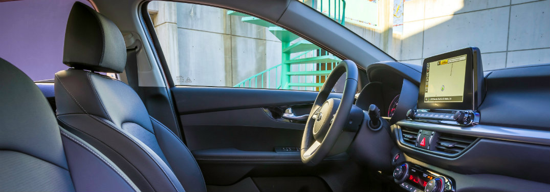 side view of the driver seat and dashboard of the 2019 Kia Forte