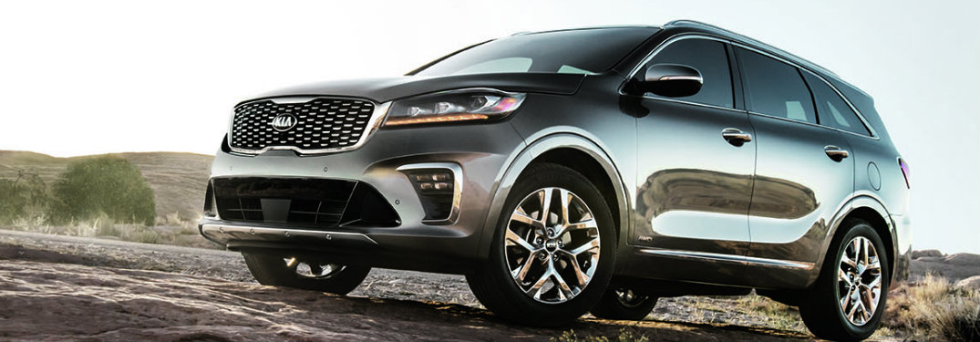 ... Side View Silver 2019 Kia Sorento