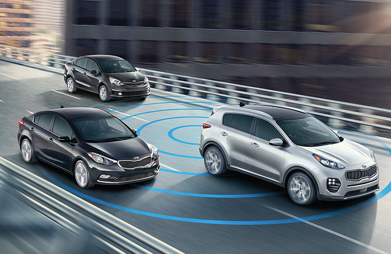 2019 Kia Sportage safety systems detecting another vehicle