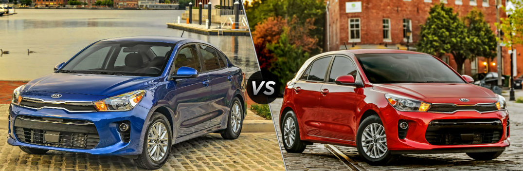 What's the Difference Between the 2019 Kia Rio Sedan and Hatchback?