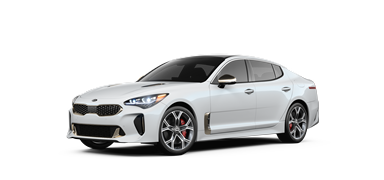 Snow white 2019 Kia Stinger GT1.