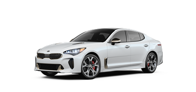 Snow white 2019 Kia Stinger GT2.