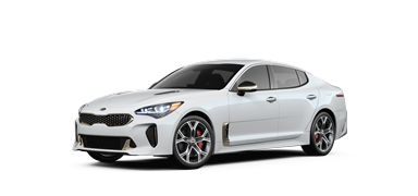 Snow white 2019 Kia Stinger GT.