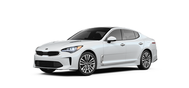 Snow white 2019 Kia Stinger Premium.