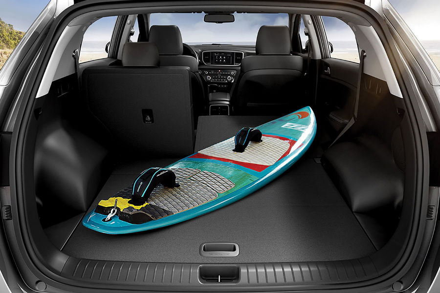 A photo of the cargo space inside the 2019 Kia Sportage.