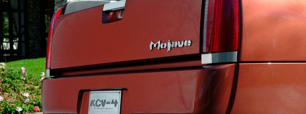 A photo of the Mojave badge used by the KCV-4 Kia Mojave concept pickup truck.