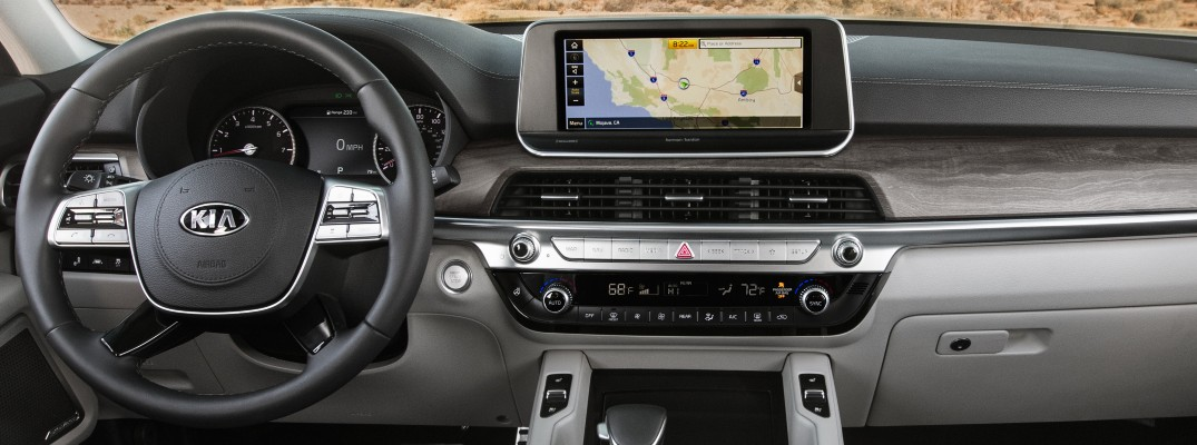 A photo of the touchscreen used in the 2021 Kia Telluride.
