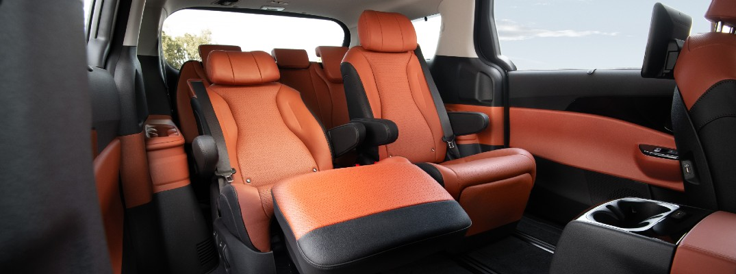 Take a closer look at the VIP Seating in the 2022 Kia Carnival.