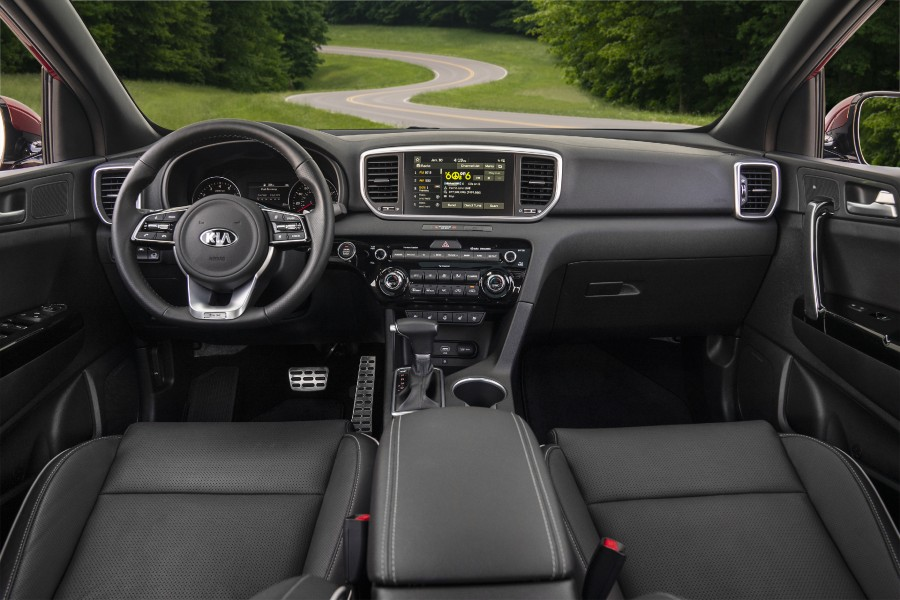 The dashboard used by the 2022 Kia Sportage.