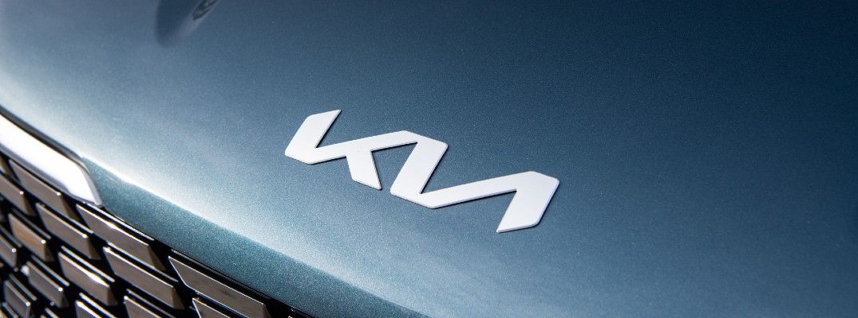 The new Kia badge used by new Kia vehicles.