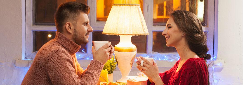 Couple enjoying some coffee