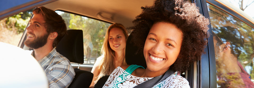 Young people in vehicle