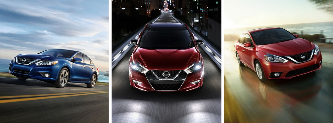 The differences between the Nissan Altima, Maxima and Sentra