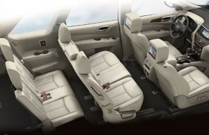 2018 Nissan Pathfinder overhead view of all seven passenger seats