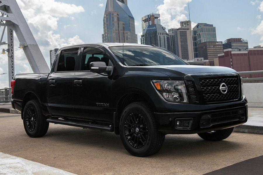 2018 Nissan Titan midnight edition on bridge near melbourne fl