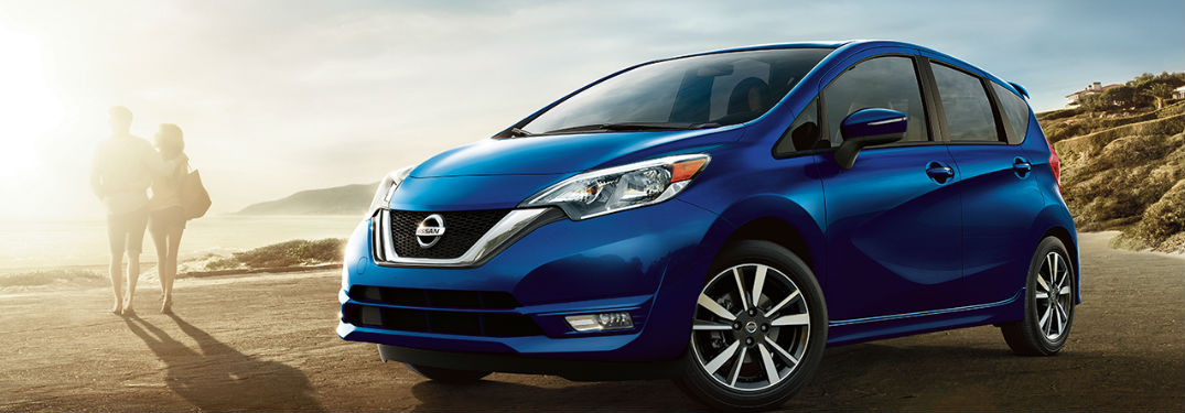 2018 Nissan Versa Note parked by beach