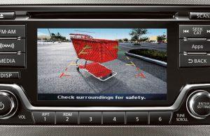2018 Nissan Versa Note rearview camera showing behind vehicle