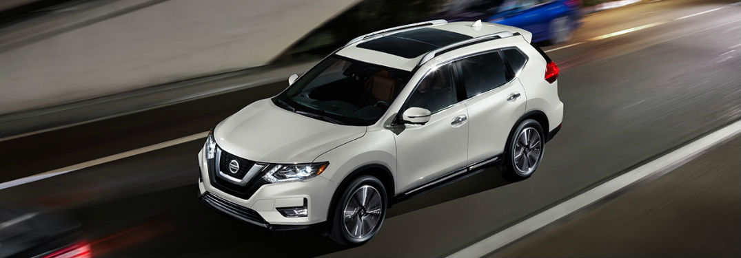 2018 Nissan Rogue driving on highway