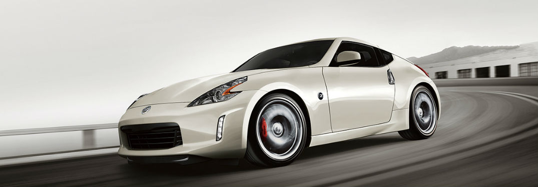 2018 Nissan 370Z driving on racetrack